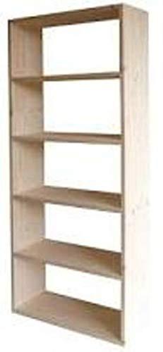 Librería en madera maciza de abeto 80x30x200 modelo GIGLIO