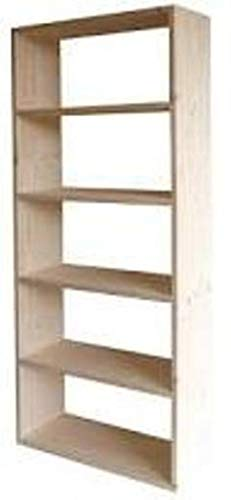 Libreria in legno massello di abete 80x30x200 modello GIGLIO