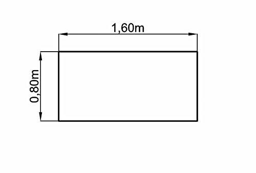 Bümö® stabile Tischplatte 2,5 cm stark - DIY Schreibtischplatte aus Holz | Bürotischplatte belastbar mit 120 kg | Spanholzplatte in vielen Formen & Dekoren| Platte für Büro, Tisch & mehr (Rechteck: 160 x 80 cm, Eiche) - 3