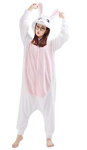 Unisex Animal Pijama Ropa de Dormir Cosplay Kigurumi Onesie Conejo Disfraz para Adulto Entre 1,40 y 1,87 m
