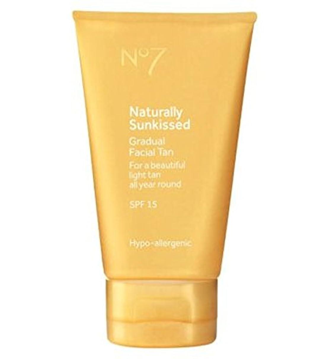 しないでください休日破産No7は自然に太陽が緩やかな顔日焼けSp15にキスをしました (No7) (x2) - No7 Naturally Sun Kissed Gradual Face Tan SP15 (Pack of 2) [並行輸入品]