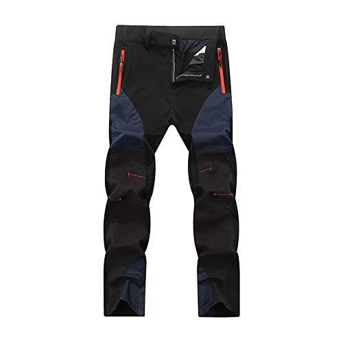 BaronHong Pantalon de Randonnée Montagne Léger Extensible Etanche Imperméable pour Femme (Bleu, L)