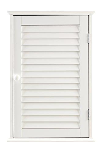 Premier Housewares - Armario de baño para la Pared con 1 Puerta (57 x 39 x 17 cm), Color Blanco