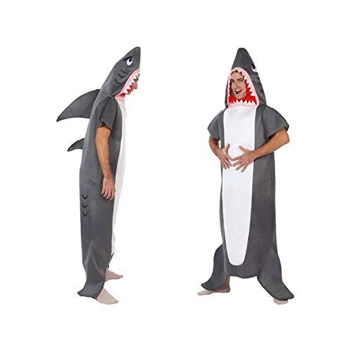 Atosa-10218 Disfraz Tiburón, color gris, M-L (10218)