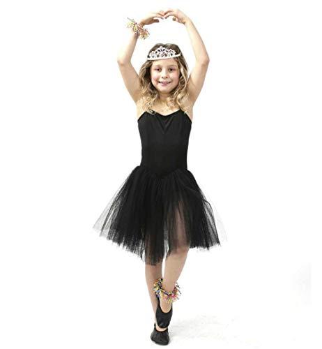 KarnevalsTeufel Kinderkostüm Ballerina schwarz (140)