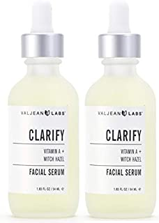 Valjean Labs Facial Serum, Clarify | Vitamin A + Witch Hazel | Helps to Remove Excess Oil, Reduce Wrinkles, and Even Tone...