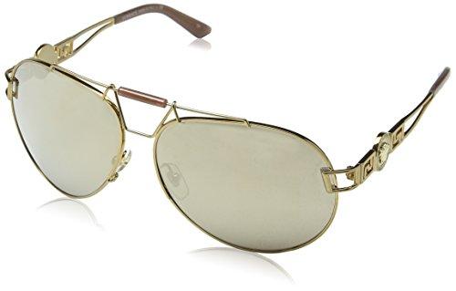 Versace Unisex VE2160 zonnebril, bruin (Brown 13485A), één maat (fabrikantmaat: 63)