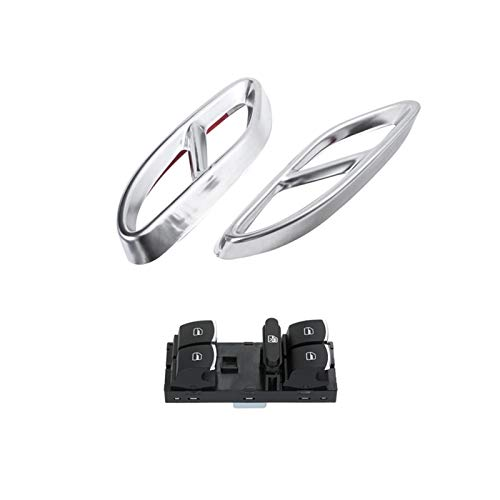 Huhu Automotriz De Escape Tubo Thip Throat Refit Fit para Mercedes S E C Glc A B-Class C207 & Window Glass Switch Fit para Passat 6 Golf (Color : Silver Black)