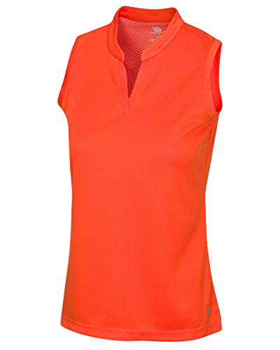 Three Sixty Six Womens Quick Dry Polo Shirt - Sleeveless and Collarless Golf Shirts w/ 4-Way Stretch Fabric and UV Protection