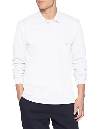 Trigema Herren Langarm Poloshirt, Weiß (Weiss 001), XL