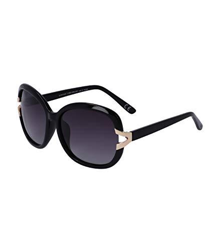 TOSH Gafas de sol para mujer con detalles dorados, lente de categoría 3, filtro UV400 (1002026)