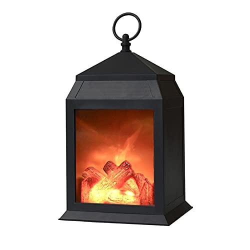 RENJUN- Lámpara Decorativa de Chimenea de Mesa compacta Efecto de Llama 3D 3D 6.3x5.5x12