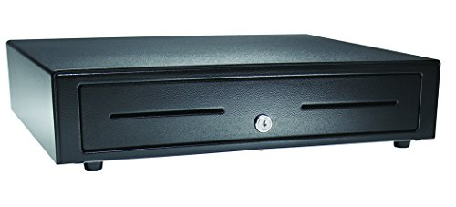APG VB320-BL1616-B10 Vasario Series Standard-Duty Painted-Front Cash Drawer with MultiPRO 320 Interface, 24V, 16.2' x 4.3' x 16.3', Black