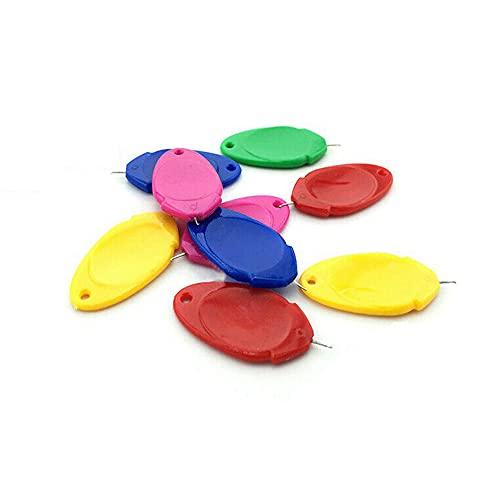 TAOJIN 10/20 Uds Bucle de Alambre de plástico DIY enhebrador de Agujas Simple, máquina de Coser Manual, enhebrador de plástico(10 Pcs-Style A)