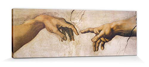1art1 60429 Michelangelo Buonarroti - Die Erschaffung Adams, Detail, 1508-1512 Leinwandbild Auf...