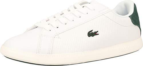 Lacoste Damen Graduate Bl 1 SFA Sneaker, Weiß (Wht/Dk Grn 1r5), 41 EU