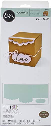 Sizzix ScoreBoards XL Stanzschablone 664345 Box, Geschenk mit welligen Kanten von Eileen Hull, Mehrfarben, Einheitsgröße