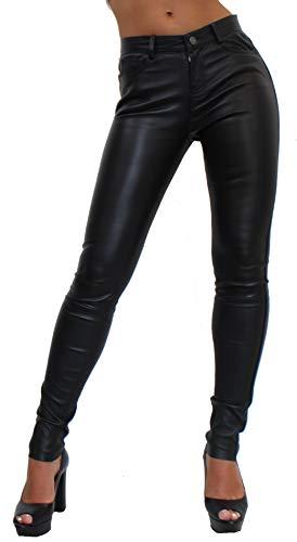 Unbekannt Panno Damen Lederhose aus echtem Lamm Nappa Leder (Schwarz, S)