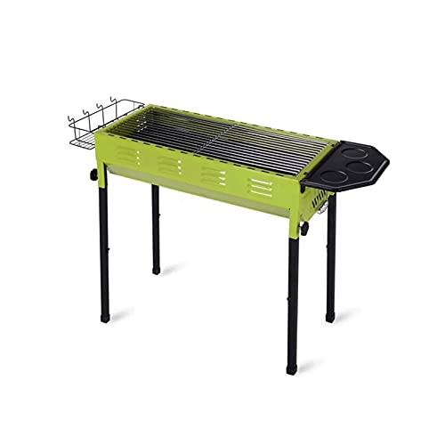 Z-Color Parrilla de Acero Inoxidable Barbacoa de carbón Fumador Barbacoa Plegable portátil for cocinar al Aire Libre Que acampa yendo de días de Campo (Verde)