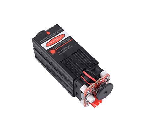 5.5W 450Nm Módulo Láser Azul Para Máquina De Grabado Láser CNC Grabador Láser CNC Control TTL PWM Diodo Láser Ajustable De Potencia Enfocable Para Enrutador CNC Bricolaje 5500Mw (5.5W)