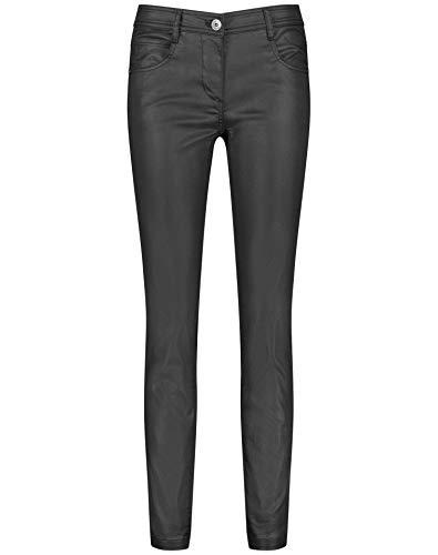 Taifun Damen Beschichtete Hose Super Skinny Ts Figurbetonte Passform Black 38