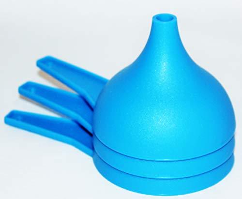 Tupperware Set of 3 Funnels Large Kitchen Gadgets Blue