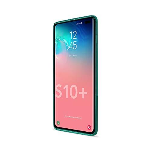 Artwizz NextSkin Case Designed für [Galaxy S10 Plus] - Ultra-dünne, elastische Handyhülle mit 0,8 mm Dicke, 2/3 Transluzent, 1/3 Matt - Petrol