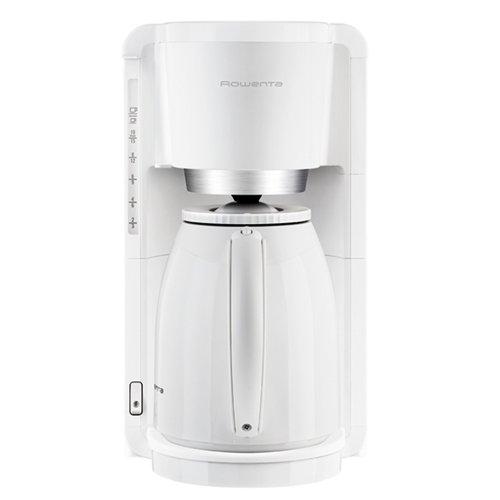 Rowenta Thermo Kaffeemaschine (freistehend, halbautomatisch, Drip Coffee Maker, gemahlener Kaffee, weiß, Kaffee, heißes Wasser)