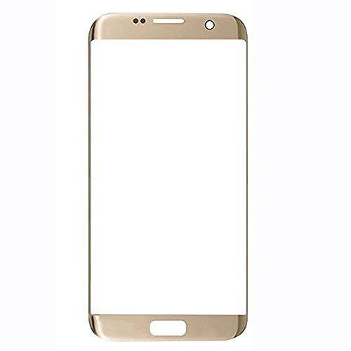 UU FIX Pantalla Cristal Frontal para para Samsung Galaxy S7 Edge (Oro) LCD Touch Screen Frontal Cristal Replacment con Juego de la Herramientas