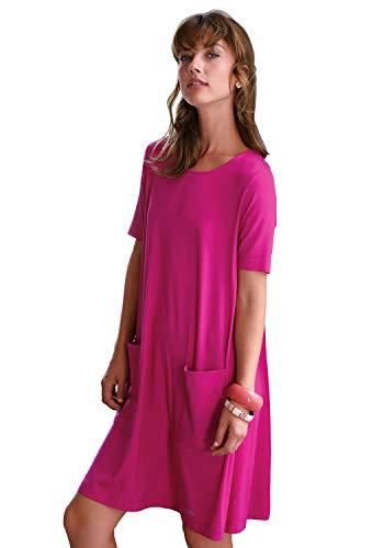 Looxent Damen Kleid Jersey-Kleid mit 1/2-Arm Glitzereffekt