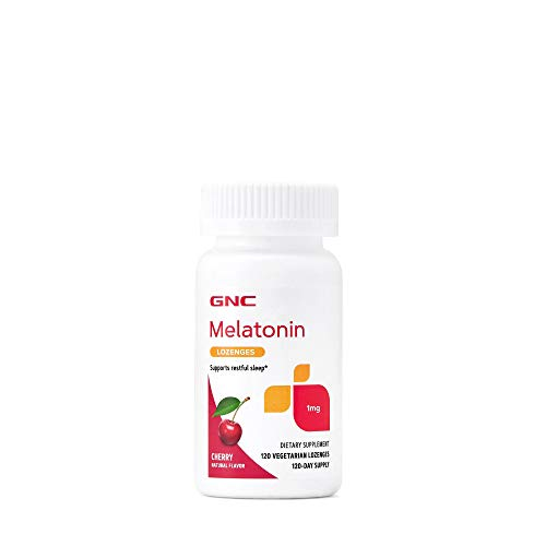 GNC Melatonin 1mg - Cherry, 120 Lozenges, Supports Restful Sleep