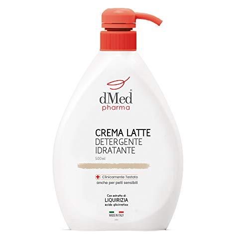 Dmed Pharma Crema Latte Detergente Idratante - Detergente Delicato Senza Risciacquo - 500 Ml