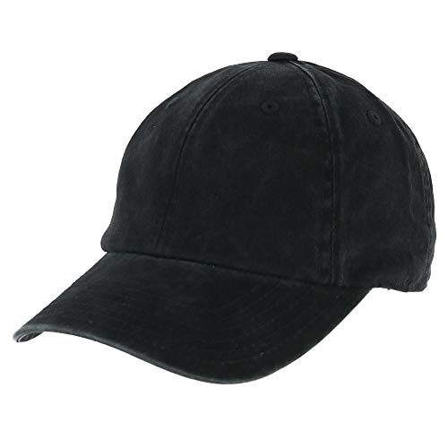 American Needle Blank Ragaln Washed Hat in Black