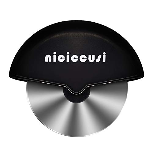 Niciccusi Pizza Cutter,Pizza Cutter Wheel With Stainless Steel Mirror Polished,Super Sharp Pizza Slicer,Ideal With Cutting Pizza,Easy Clean