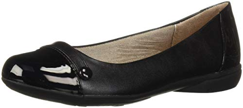 LifeStride Women's Alchemy Ballet Flat, Black, 8 M US