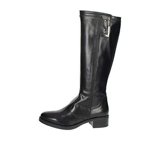 NeroGiardini A909601D Stivali Donna in Pelle E Tela - Nero 37 EU