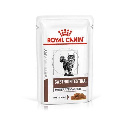 Royal Canin Comida veterinaria de gastrointestinal moderada en calorías para gatos 12x100g