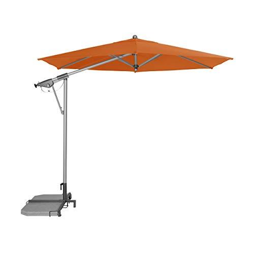"""Doppler Pendelschirm AX Alu-Pendelschirm 290cm """"Made in Europe"""" – 6-teilig – Sonnenschirm für Balkon, Garten – Neigbar – Wasserdicht – 290 cm – Umbra"""