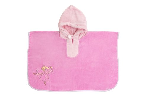Slumbersac Kids Hooded Bad Poncho Handdoek (1 - 4 jaar, Roze Fee)