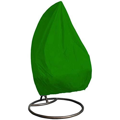 JQDZX Silla Colgante Jardín, Cubierta De Muebles- Tela Oxford con Cremallera- Impermeable UV Protege a Prueba de Polvo, para Mecedora (Double 232 * 203cm,Green)