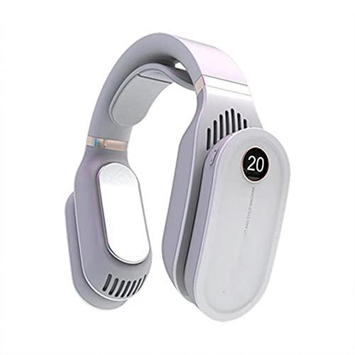 Mini condizionatore d'aria portatile, ventilatore a collo, ricaricabile, piccolo ventilatore di raffreddamento del ventilatore USB, ventilatore USB, raffreddatore aria ventilatore silenzioso,Bianca