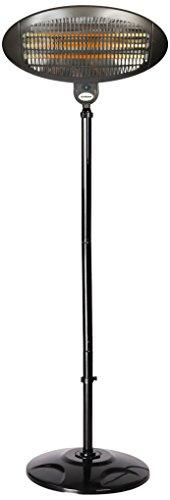 La Hacienda Free-Standing Outdoor Electric Infrared Heater, Black, 180-210 cm