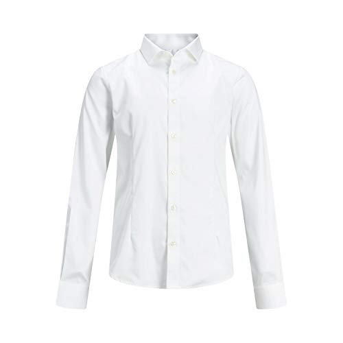 JACK & JONES Boy Hemd Jungs Rundsaum 176White