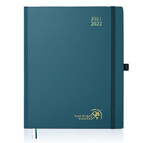 Kalender 2021/2022 weekplanner circa A4 - afsprakenplanner, afsprakenkalender 1 week 2 paginas met hardcover, planner weekkalender 2021/22, groen (AC8HK7)