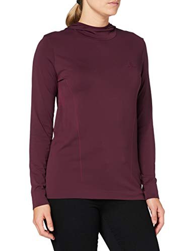 Salomon Sweat à Capuche Femme, COMET SEAMLESS HOODIE W, Polyamide/Polyester, Rouge (Winetasting), Taille M, LC1376800