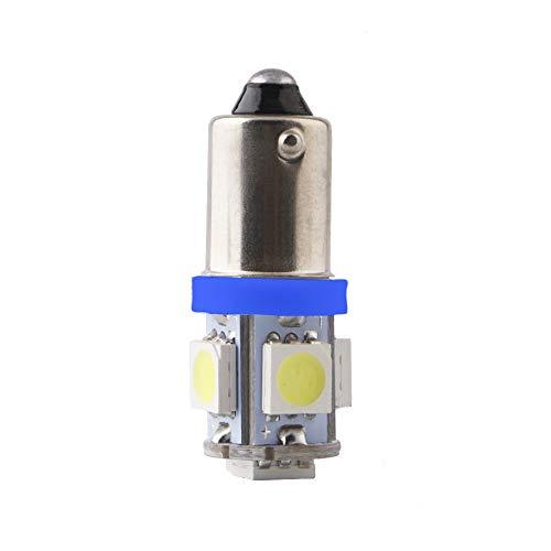 BA9S - Bombilla de repuesto para luz indicadora azul de 24 V CA CC, tecnología LED, repuesto para pulsadores industriales, diámetro de 22 mm