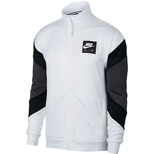 Nike Men's Air Jacket White Black AJ5321 100 (l)