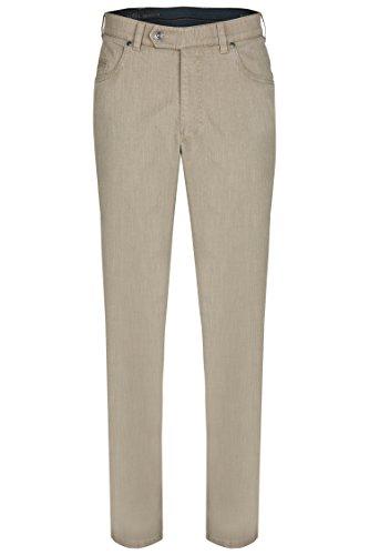 aubi: Herren Sommer Hose Baumwollhose Längsstruktur Modell 577 beige Größe 30