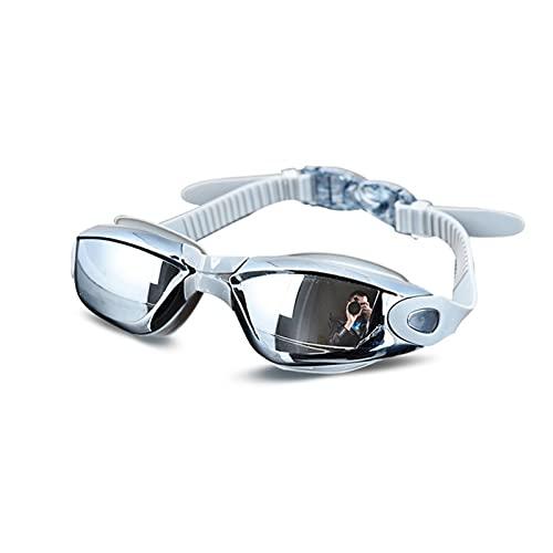 LYB Gafas De Natación De Silicona Profesional Anti-Niebla Electrochaplating Gafas para Hombres Mujeres Buceando Agua Deportes Gafas (Color : Gray)