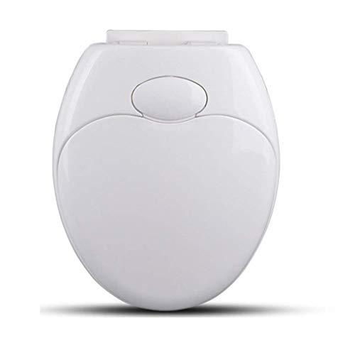 IAIZI - Toiletbril Universeel voor volwassenen, kinder wc-bril met verstelbaar scharnier bovenop gemonteerd eenvoudig te installeren wc-deksel voor O-vorm toilet, Wit